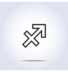 Simplistic sagittarius zodiac star sign vector