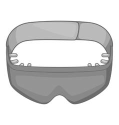 Sleeping mask icon gray monochrome style vector