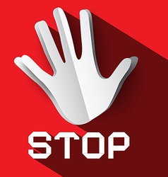 Stop Sign Palm Hand with Stop Title Stop Symbol vector image vector image
