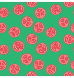 Stylized tomato pattern vector