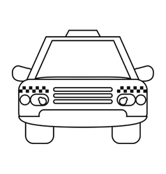 Taxi cab car public transport outline vector