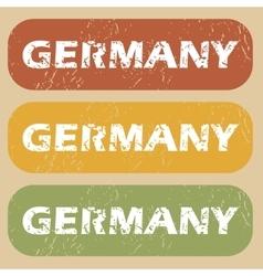 Vintage germany stamp set vector