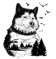 Wolf for your design wildlife concept vector