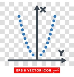 Parabole plot eps icon vector