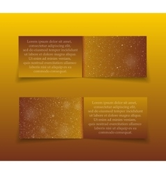 Gold golden rectangle banners new year christmas vector