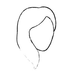 Blurred silhouette faceless front view woman with vector