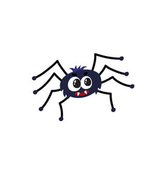 cute funny black spider traditional halloween vector image