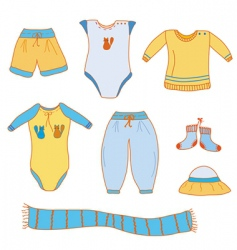 baby boy clothes vector image