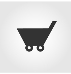 Shopping cart icon flat design vector