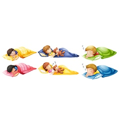 Kids sleeping soundly vector