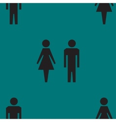 Suluet men women web icon flat design seamless vector