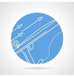 Harpoon blue round icon vector