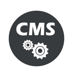 Monochrome round cms settings icon vector