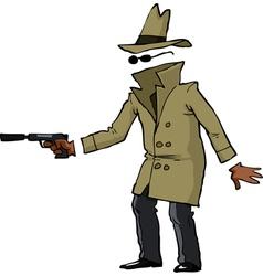invisible spy with a gun vector image