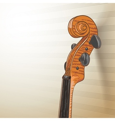 Violin neck vector