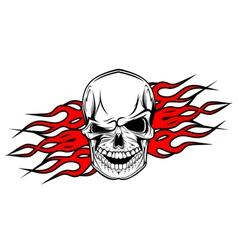 danger evil skull as a tattoo isolated on white vector image