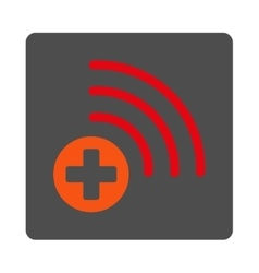 Medical source flat button vector