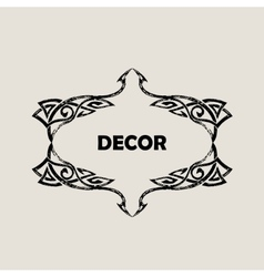 Grunge vintage emblem black decor abstract logo vector