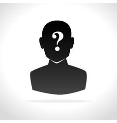 Confused person design vector
