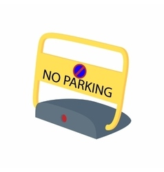 Sign no parking icon cartoon style vector