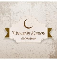 Ramadan kareem eid mubarak realistic card vector