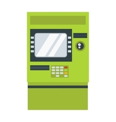 Atm cash dispenser vector