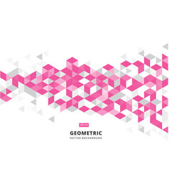abstract pink geometric background with polygonal vector image vector image