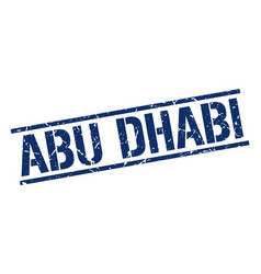 Abu dhabi blue square stamp vector
