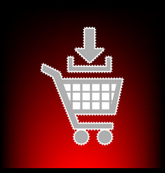add to shopping cart vector image vector image