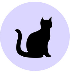 black cat silhouette vector image vector image