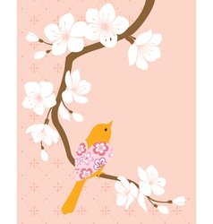 Blossom cherry branch 1 vector image