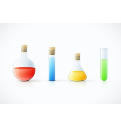 Chemicallaboratory glassware vector