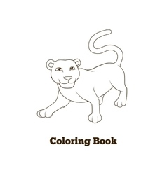 Coloring book panther african animal cartoon vector