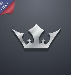 Crown icon symbol 3d style trendy modern design vector