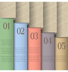 Design template in pastel colors vector image