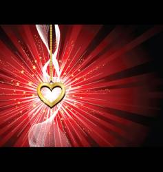 golden heart background vector image