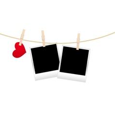 hearts clothespins 07 vector image