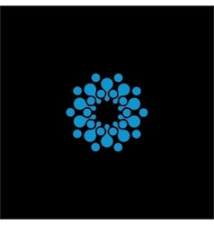 Isolated abstract blue color flower logo vector image vector image