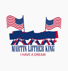 Martin luther king day the hand holds the flag vector