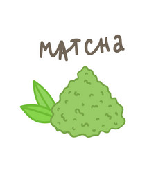 Matcha powder superfood vector