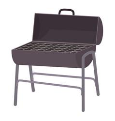 Metal barbecue icon cartoon style vector