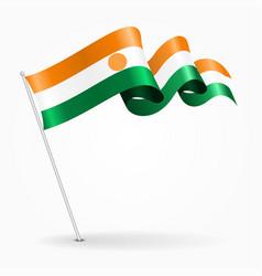 Niger pin wavy flag vector