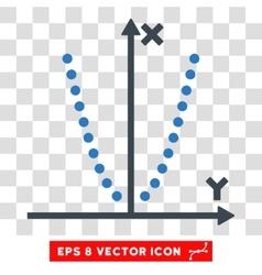 Parabole plot eps icon vector
