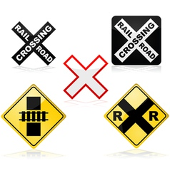 Railroad crossing vector image vector image