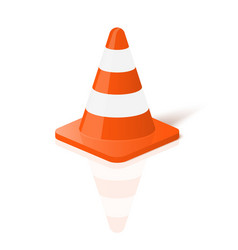 Realistic traffic cone in vector image vector image