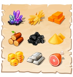 resource icons for games vector image vector image