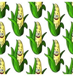 Ripe corn seamless pattern vector
