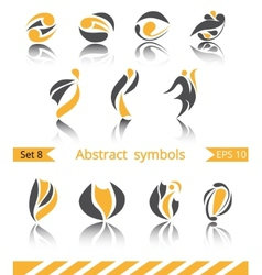 Set of different abstract flat summer and spring vector image vector image