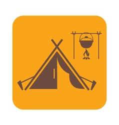 tentpot vector image vector image