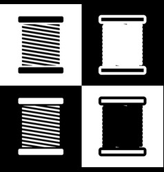 Thread sign black and white vector